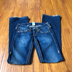 True Religion | Flare Distressed Jeans